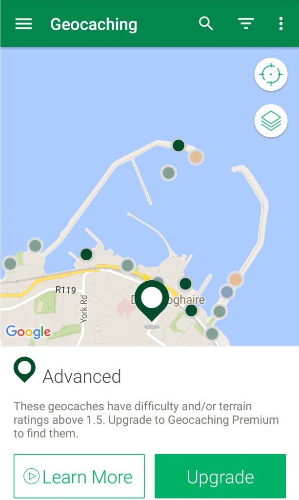 mobile games to play while you travel geocaching
