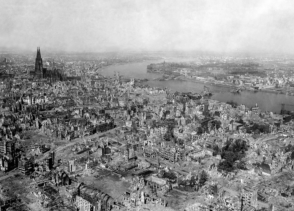 Cologne After Bombings By Allies